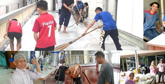 เยาวชนคลองตันทำความสะอาดมัสยิดต้อนรับวันตรุษอีฎิ้ลอัดฮา
